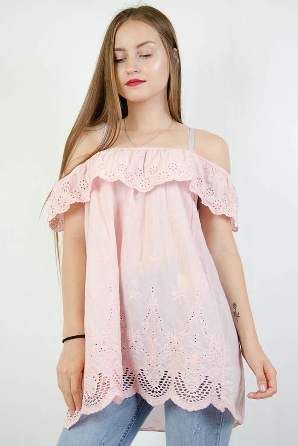 Różowa bluzka Olika hiszpanka