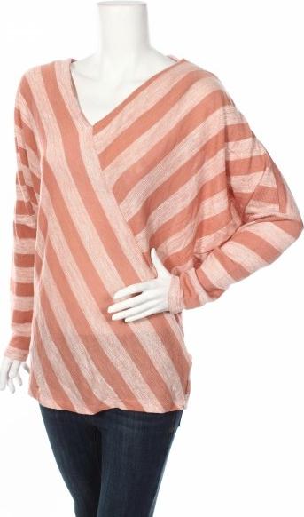 Różowa bluzka Renuar z długim rękawem