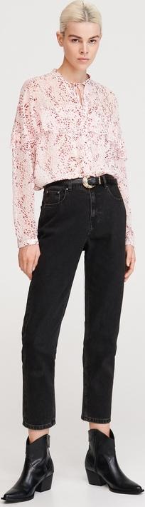 Różowa bluzka Reserved w stylu boho z długim rękawem