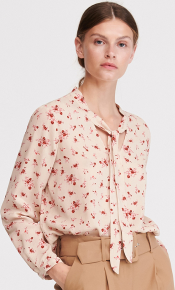 Różowa bluzka Reserved z długim rękawem