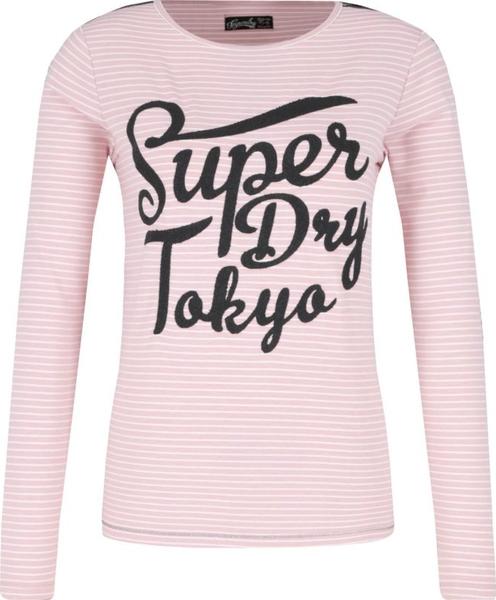 Różowa bluzka Superdry z okrągłym dekoltem
