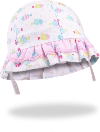 Różowa czapka YoClub z bawełny