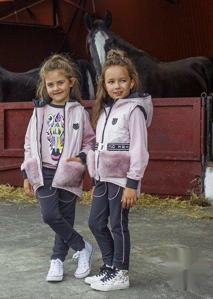 Różowa kamizelka dziecięca Kids By Voga