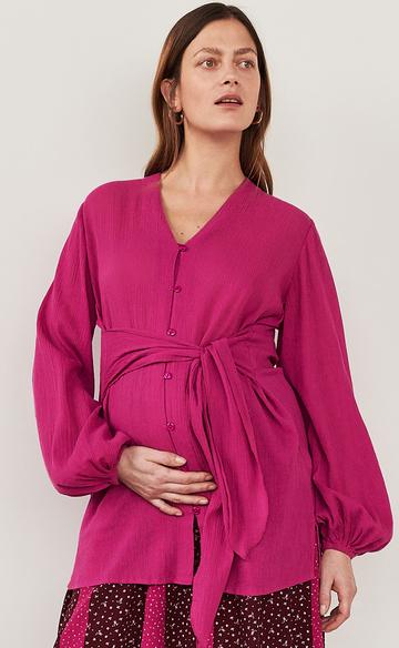Różowa koszula Reserved z długim rękawem
