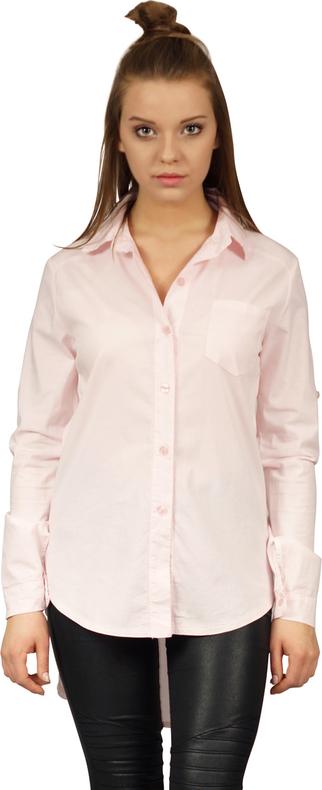 Różowa koszula Underworld z kołnierzykiem z bawełny