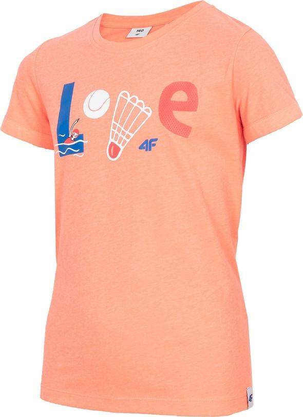 Różowa koszulka dziecięca 4F