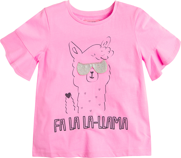 Różowa koszulka dziecięca Cool Club z krótkim rękawem z bawełny
