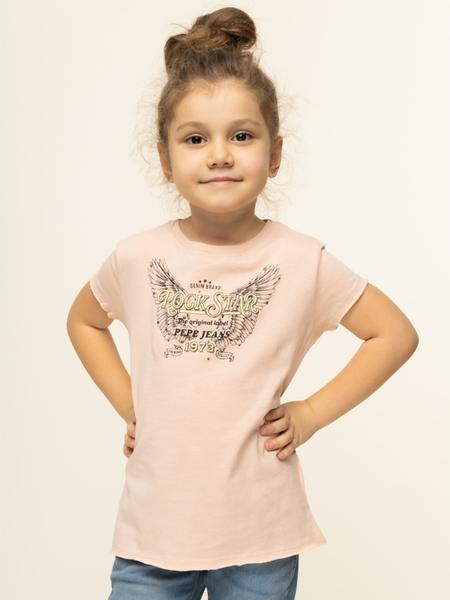 Różowa koszulka dziecięca Pepe Jeans