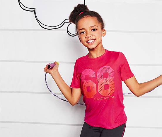 Różowa koszulka dziecięca Tchibo