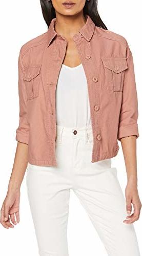 Różowa kurtka amazon.de w stylu casual krótka
