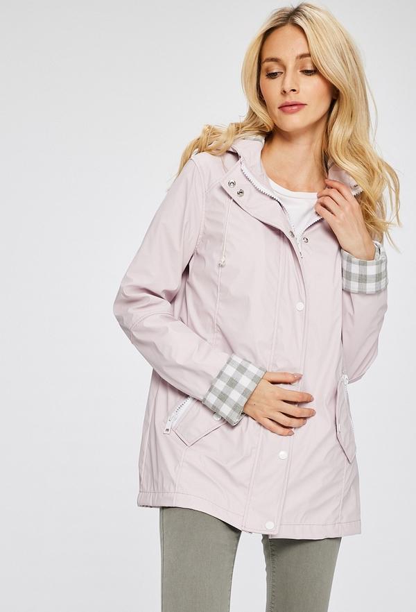 Różowa kurtka Answear długa