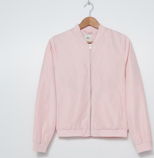 Różowa kurtka House krótka w stylu casual