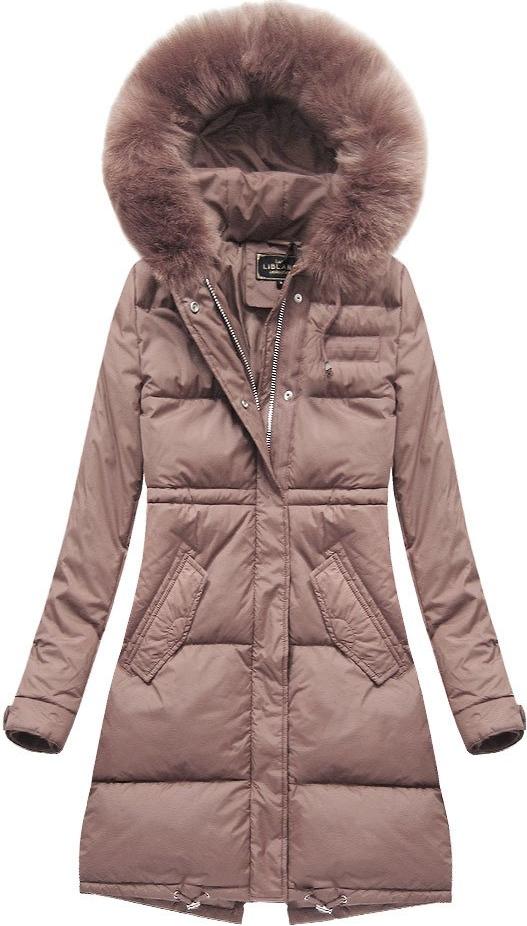 Różowa kurtka Libland w stylu casual długa