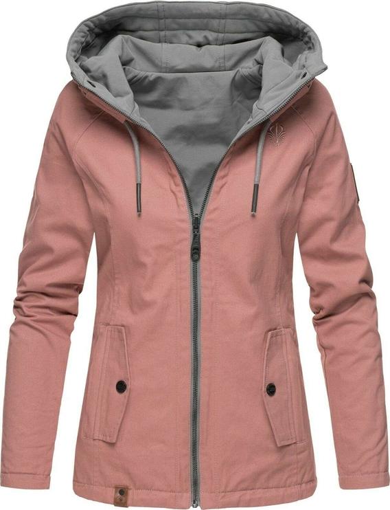 Różowa kurtka Marikoo krótka w stylu casual