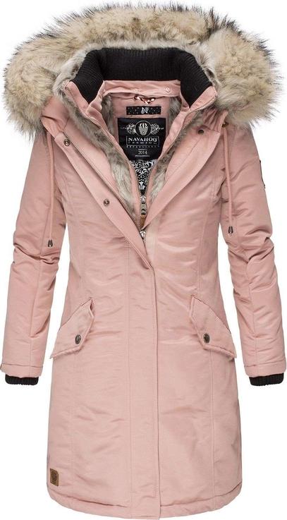 Różowa kurtka Navahoo w stylu casual długa