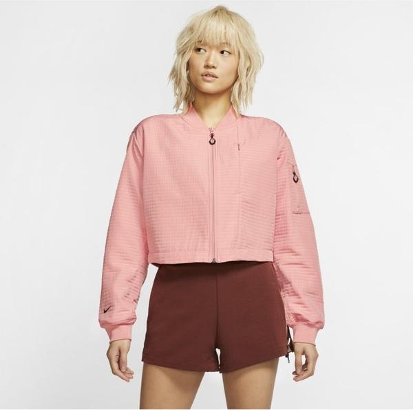 Różowa kurtka Nike w sportowym stylu