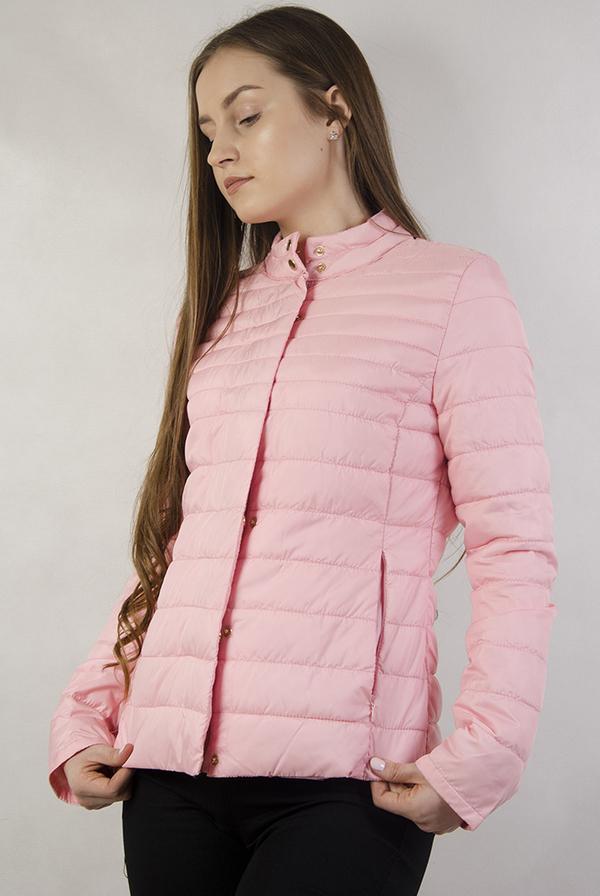Różowa kurtka Olika krótka