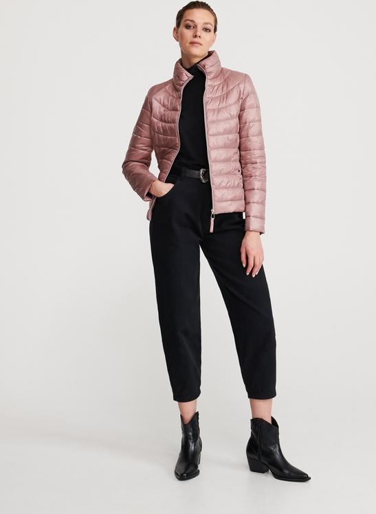 Różowa kurtka Reserved w stylu casual