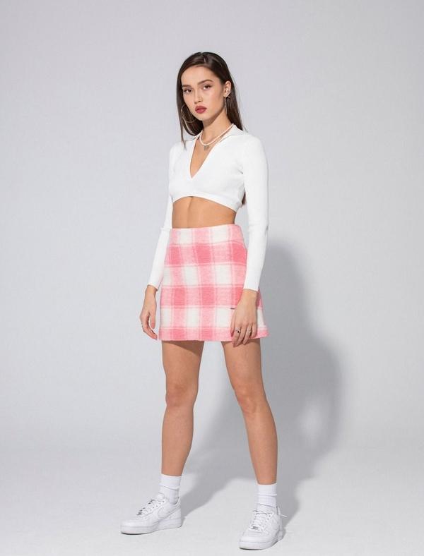 Różowa spódnica LOCAL HEROES w stylu casual