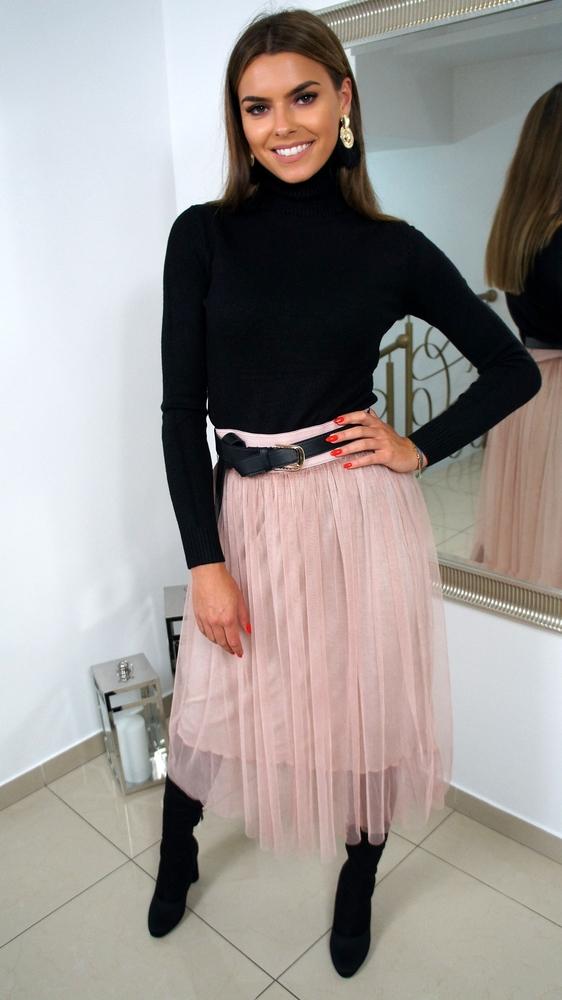 Różowa spódnica Ricca Fashion z tiulu