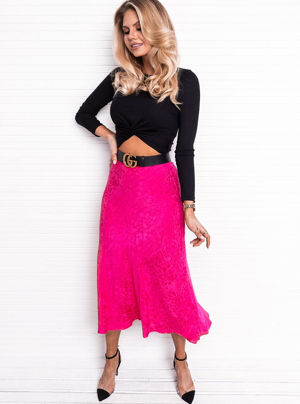 Różowa spódnica SELFIEROOM midi