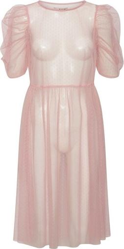 Różowa sukienka A-view