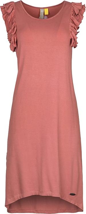 Różowa sukienka Alife And Kickin z okrągłym dekoltem bez rękawów