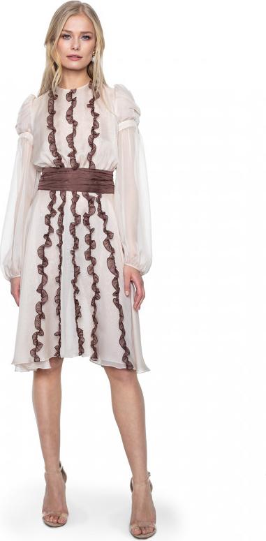 Różowa sukienka ANETA KRĘGLICKA X L'AF w stylu casual