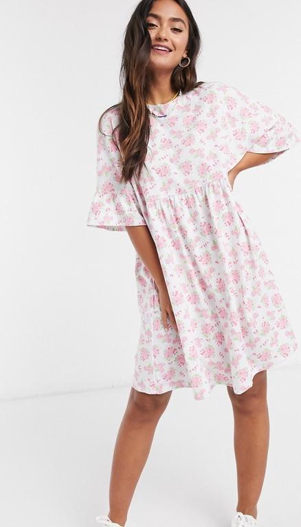 Różowa sukienka Asos koszulowa