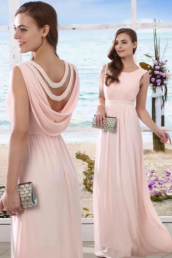 Różowa sukienka Butik Ecru bez rękawów z tkaniny