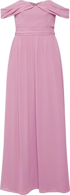 Różowa sukienka Chi Chi London bez rękawów maxi hiszpanka