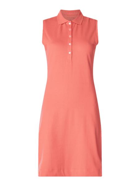 Różowa sukienka Christian Berg Women z bawełny