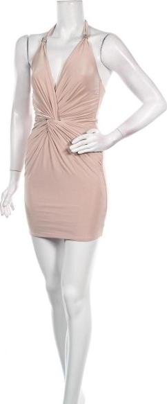 Różowa sukienka City Goddess bez rękawów mini dopasowana