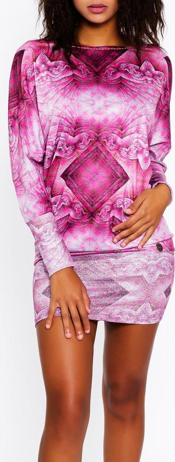 Różowa sukienka Culito From Spain w stylu casual