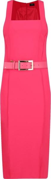 Różowa sukienka Elisabetta Franchi midi