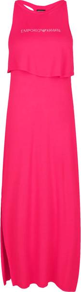 Różowa sukienka Emporio Armani bez rękawów maxi