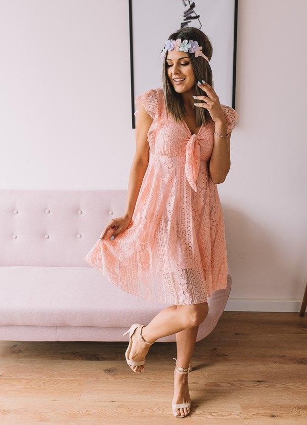 Różowa sukienka Fanaberia Store midi