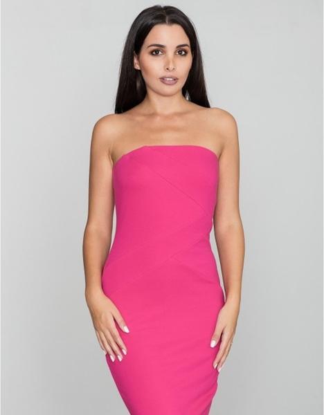 Różowa sukienka Figl bez rękawów