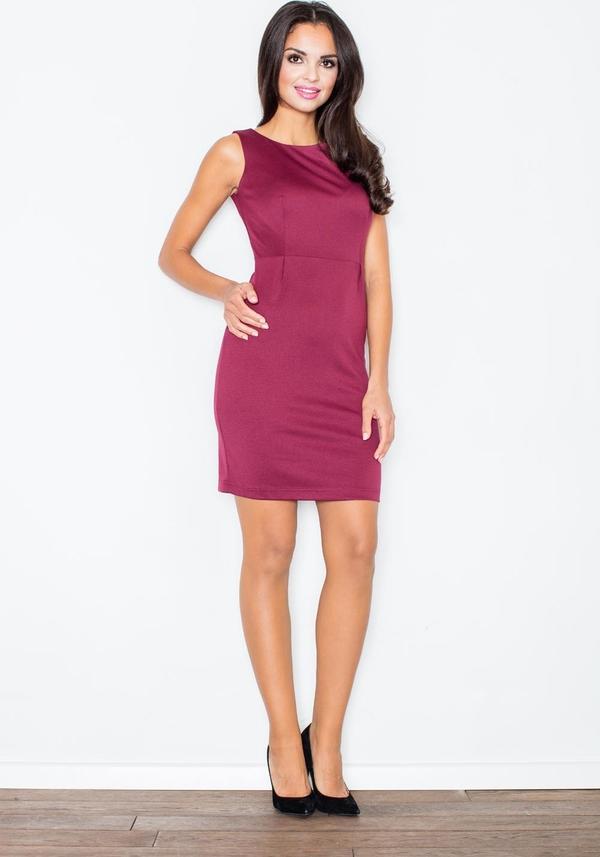 Różowa sukienka Figl mini bez rękawów