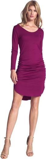Różowa sukienka Figl mini z długim rękawem