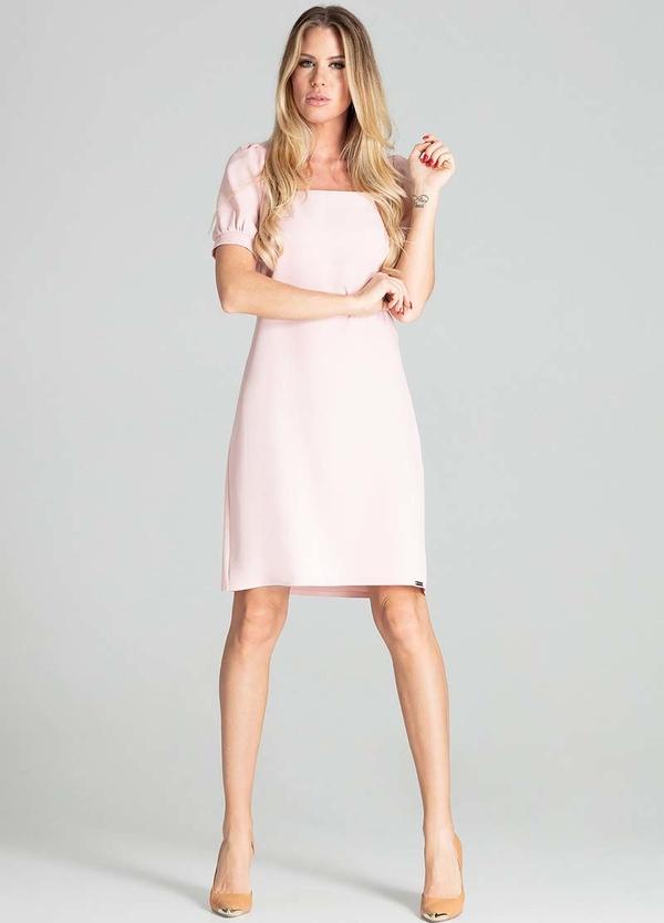 Różowa sukienka Figl prosta