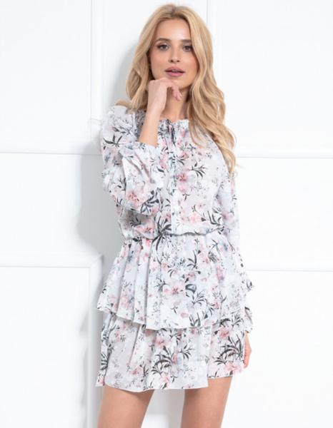 Różowa sukienka Fobya mini z tkaniny