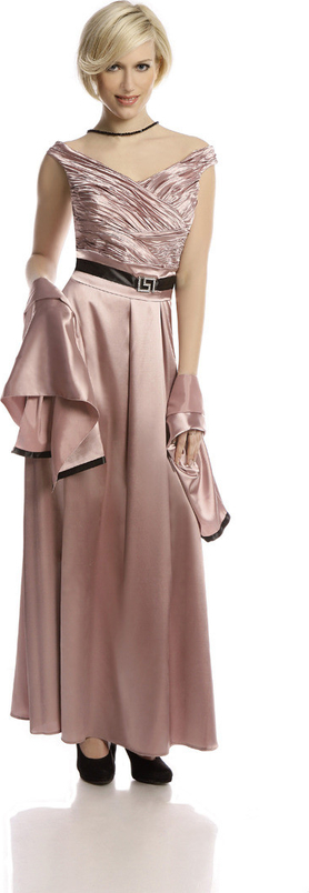 Różowa sukienka Fokus z dekoltem w kształcie litery v bez rękawów