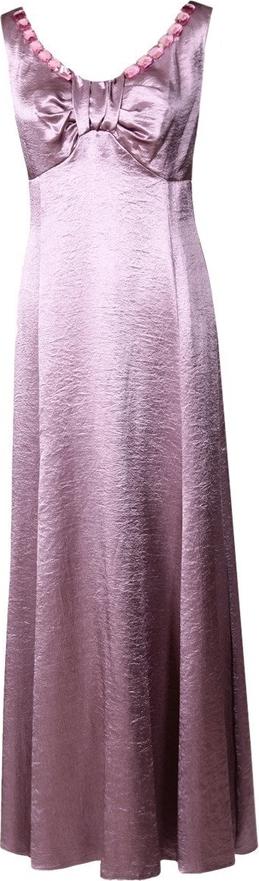 Różowa sukienka Fokus z satyny