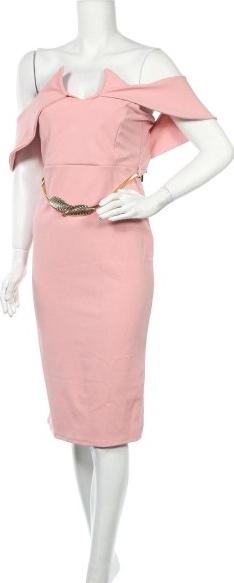 Różowa sukienka Girls on Film prosta z krótkim rękawem