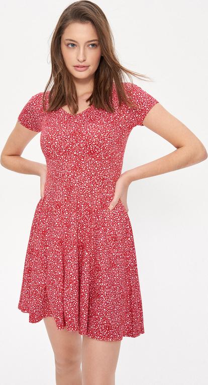 Różowa sukienka House w stylu casual mini