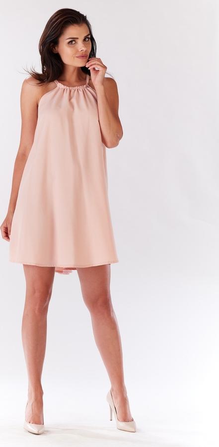 Różowa sukienka Infinite You bez rękawów