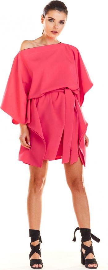 Różowa sukienka Infinite You z długim rękawem mini