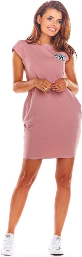 Różowa sukienka Infinite You z nadrukiem z bawełny mini