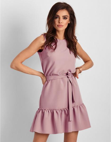 Różowa sukienka Ivon bez rękawów